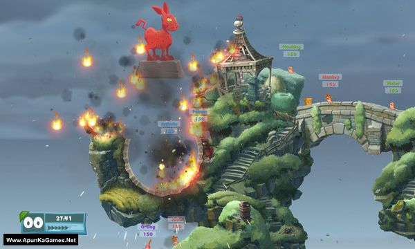 Worms W.M.D Screenshot 1, Full Version, PC Game, Download Free